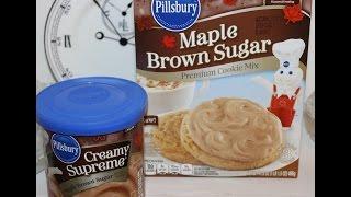 Making Pillsbury Maple Brown Sugar Cookies
