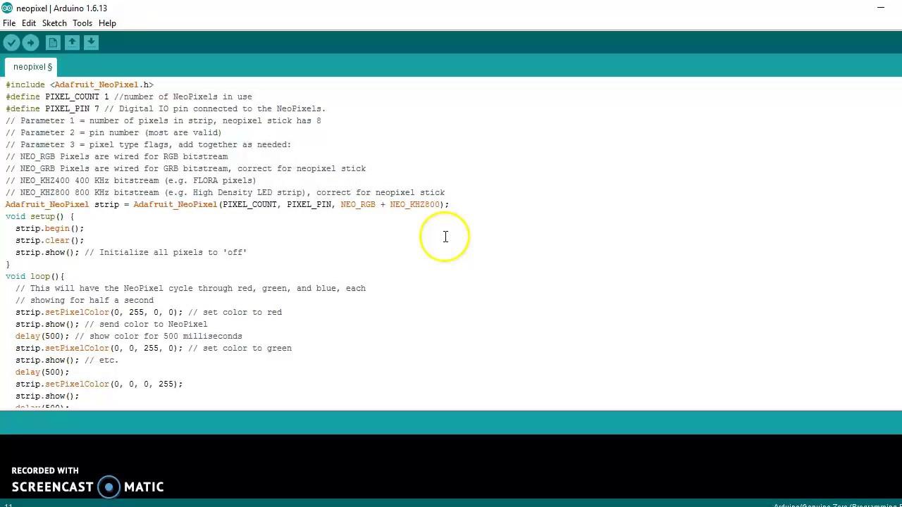 Arduino tutorial neopixel youtube