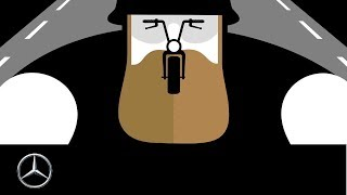 "Tongue Twisters  ""Biker"" by Noma Bar – Mercedes Benz original"