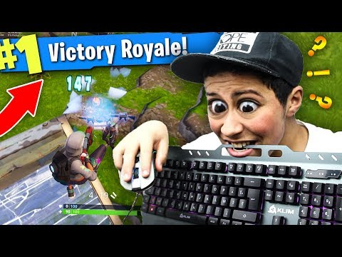MON PREMIER TOP 1 CLAVIER SOURIS SUR FORTNITE BATTLE ROYALE ?!