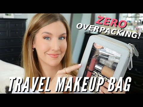 Packing a TRAVEL MAKEUP BAG | STOP Overpacking! + TSA Makeup Tips