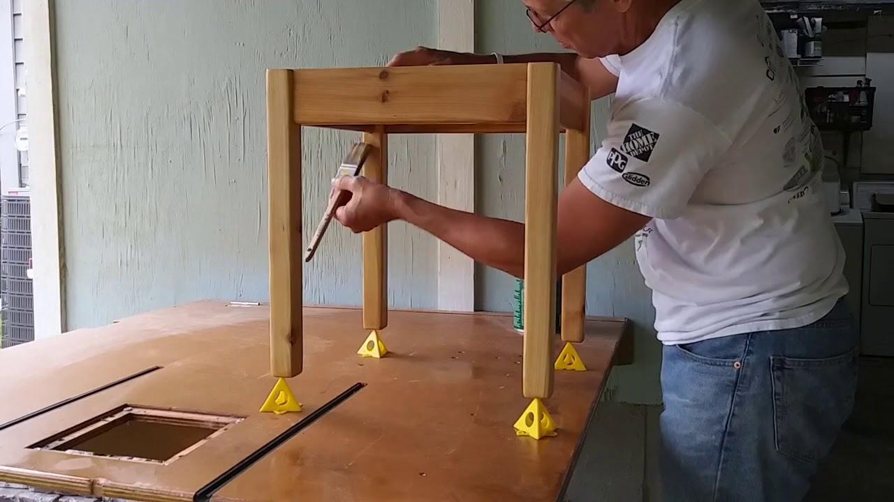Building Patio Tables in Western Red Cedar