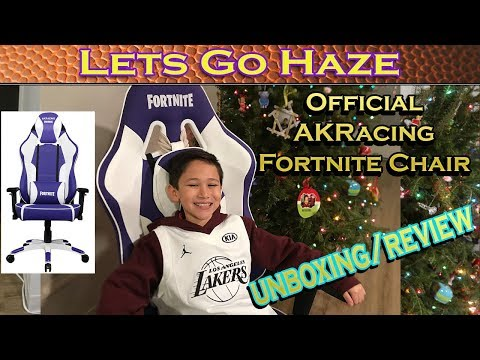 LIMITED EDITION FORTNITE AK RACING CHAIR 121 IN THE WORLD