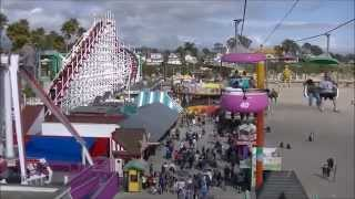 Sky Glider On Ride POV Santa Cruz Beach Boardwalk Sky Ride