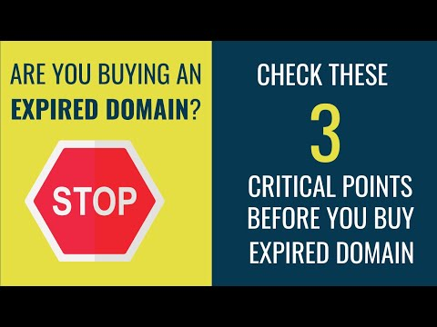 How to find Expired Domains that will Benefit. Analyze 3 Critical Points to choose Expired Domain