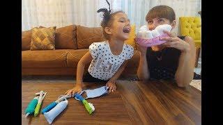 ELİF NEDEN AĞLIYOR , Dişçi Seti oyuncak kutusu açtık , eğlenceli çocuk videosu