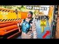 100 ZOMBIES VS MY ZOMBIE VAN! 24 Hour SURVIVAL Challenge!