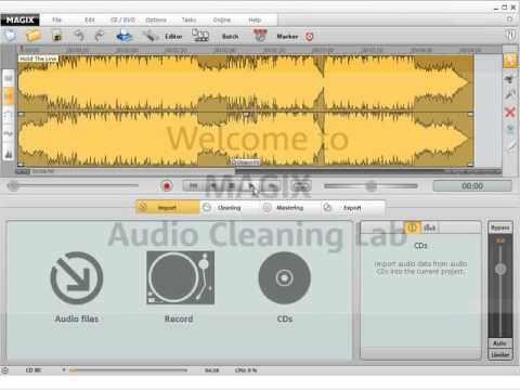 MAGIX Audio Cleaning Lab 15 Deluxe Tutorial Video