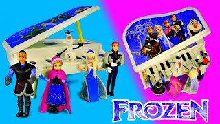 FROZEN Musical Light Up Piano Disney Dolls Elsa Kristoff Olaf Hans and Princess Anna Toys by DCTC