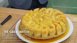 When to flip a tarte tatin? / The Great British Bake Off
