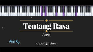 Tentang Rasa (MALE KEY) Astrid (KARAOKE PIANO)