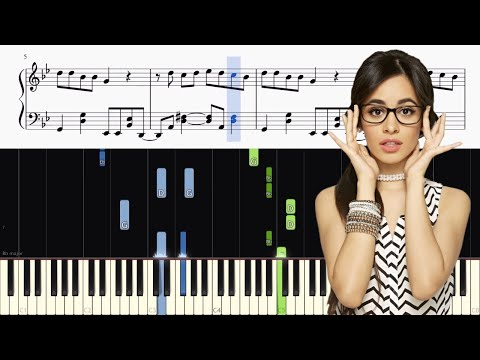 Camila Cabello - Havana - Piano Tutorial + SHEETS