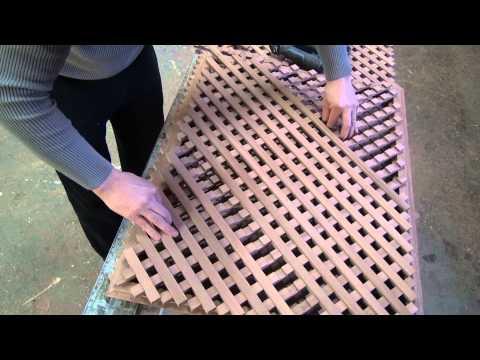 Изготовление деревянной решетки , версия 2