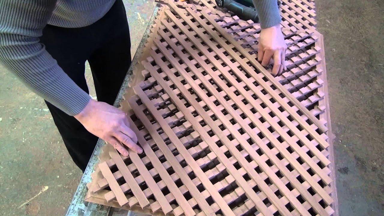 декоративная решётка из сосны - YouTube