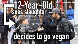 12-Year-Old Reacts To Slaughter Footage
