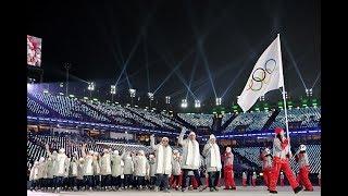 Сборная России прошла на параде спортсменов под нейтральным флагом