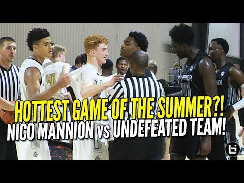 HOTTEST GAME of the Summer?! Nico Mannion 13 assists! Top 2 Under Armour Teams Battle!