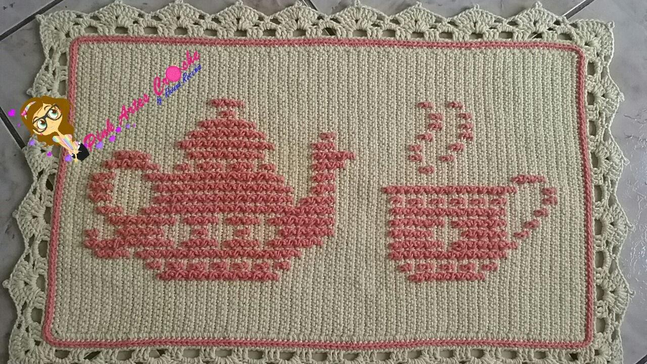 Passadeira De Croche Para Cozinha Com Grafico Fabulous Tapete