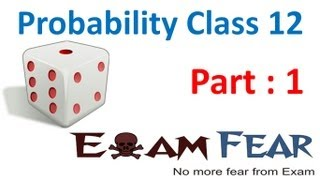 Probability CBSE 12 Mathematics XII 12