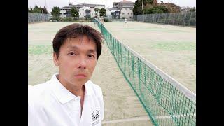 20180818Tennis@Yokohama JAPAN as ex-tennis coach & Lyricist  元テニスコーチの「作詞家 歌手 渡辺隆」Stroke ストローク編