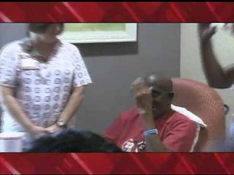 University of Alabama football players visit Hospice