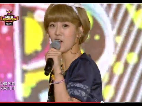BESTie - Pit-a-pat, 베스티 - 두근두근, Show Champion 20130814