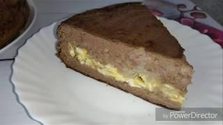 Пирог из печени с начинкой.