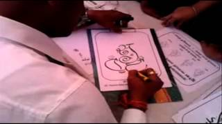 Repeat youtube video Akshar Ganesh Calligrapher Chandrakant badiger