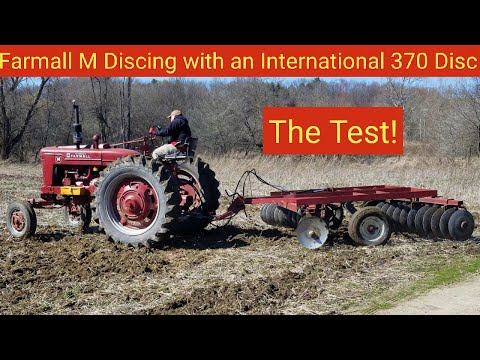 Farmall M Discing With An International 370 Disc