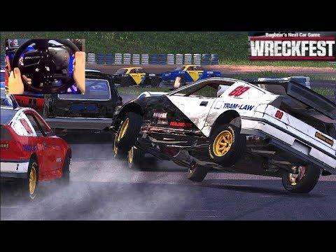 Honda CRX Update!! Fanatec Wheel + WRECKFEST = FUN + (Special Box Opening)