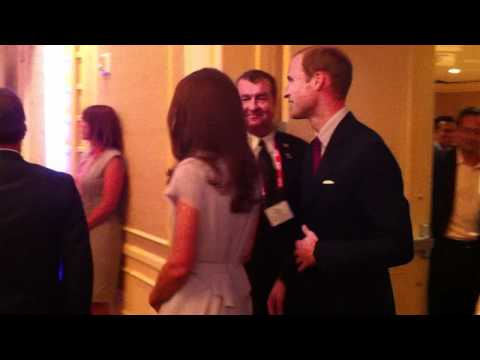 William and Kate arriving at a Variety Magazine Event