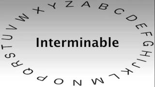 SAT Vocabulary Words and Definitions — Interminable