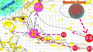 Monster Storm Brewing In The Tropics - Bigger Storm Coming - The WeatherMan Plus Weather Channel
