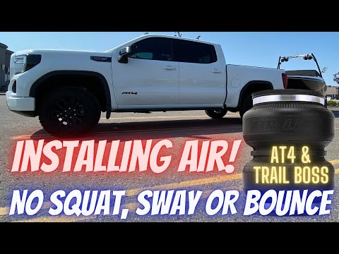 How To Install Air Lift LoadLifter Air Bags on a GMC Sierra AT4 or Chevrolet Trail Boss. 2019 – 2021