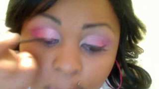 Prom Makeup - Pink, Black, and White Thumbnail