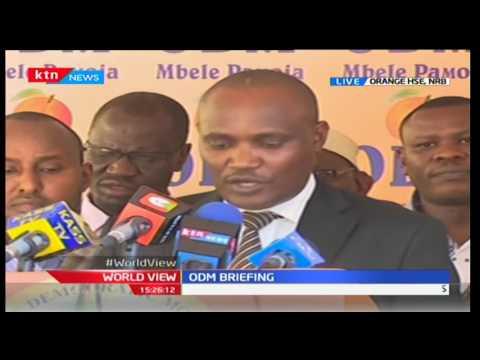 Hon. John Mbadi reacts to President Uhuru Kenyatta's utterances towards Mombasa Governor Joho