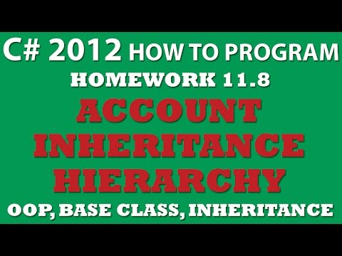 11.8 C# Account Inheritance Hierarchy (using Base classes and inheritance in C#)