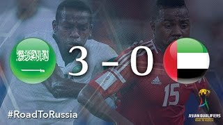 saudi arabia vs uae asian qualifiers road to russia