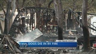 Three dogs killed in RV fire near Cedar Park