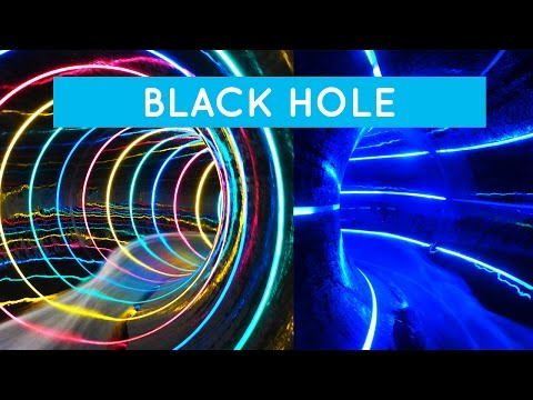 Bad 1 Bremerhaven - Black Hole || Colorful LED water slide!