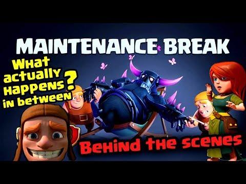 Maintenance Break Behind the scenes... ADVANTAGE and DISADVANTAGE