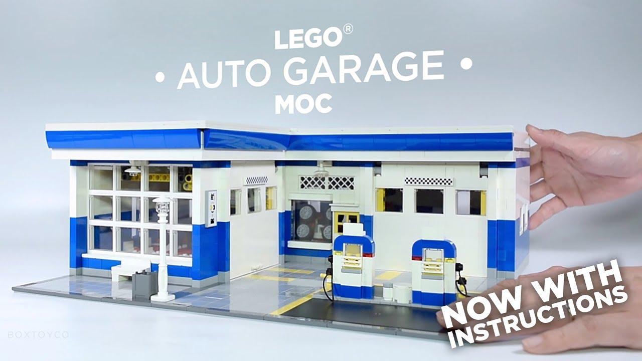 Lego custom moc auto garage instructions available for Garage auto 7