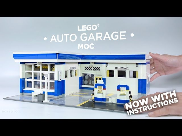 Bricktoyco Lego Custom Moc Auto Garage Instructions Available