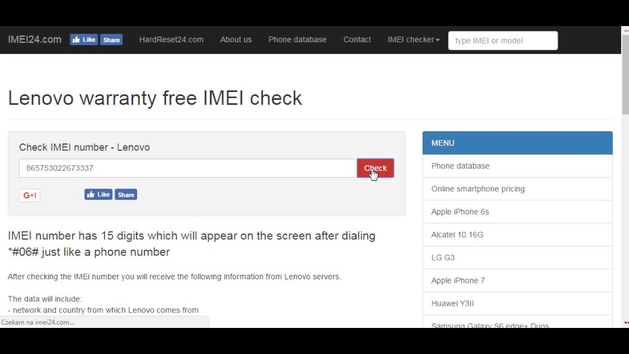 lenovo phones warranty checker by imei