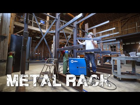 Cantilever Metal and Wood Rack
