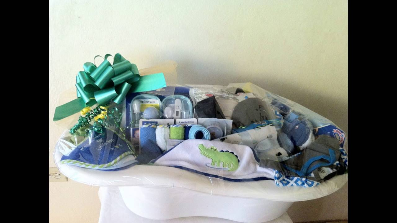 How you can utilise a baby bath tub to make a baby shower ...