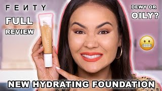 FENTY BEAUTY HYDRATING FOUNDATION REVIEW + WEAR TEST | Maryam Maquillage