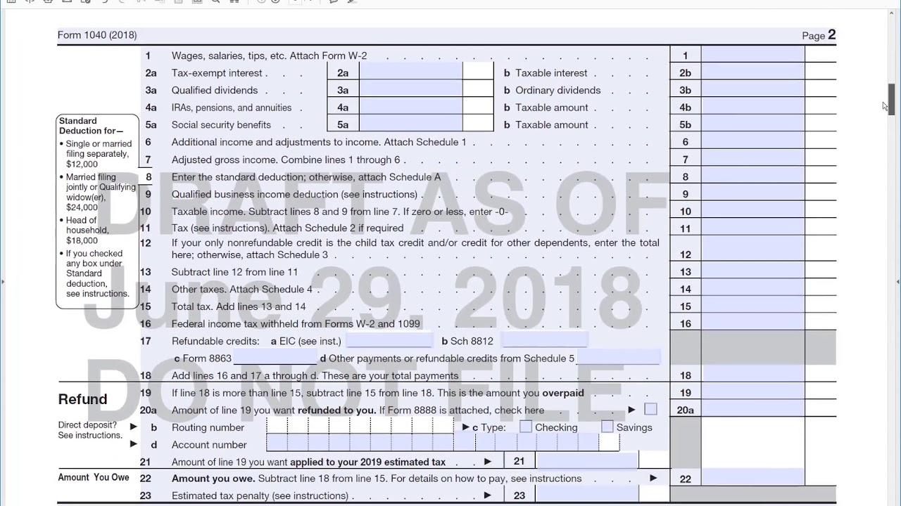 How To Fill Out The New Irs Form For With The