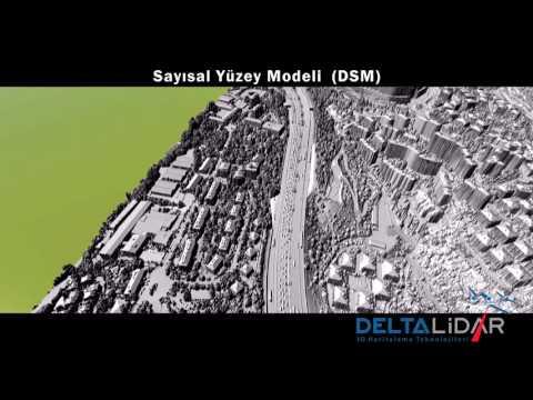 Hava Lidar Sistemi ile Üretilmiş Sayısal Yüzey Modeli -  DSM from Airborne Lidar System