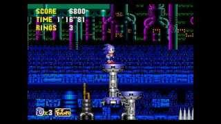 Sonic CD - Metallic Madness Zone+Bad Ending+Credits Kega Fusio…
